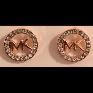 Michael Kors Logo Earrings with Rhinestones